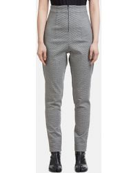 Capara - Tapered Hounds Tooth Trousers 9 In Grey - Lyst