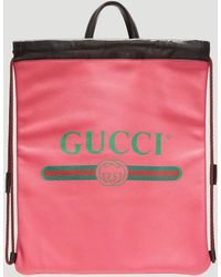 c96cc944d4bf Gucci Flora Snake Print Backpack in Green for Men - Lyst