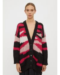 Valentino - Striped Cardigan In Pink - Lyst