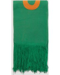 Off-White c/o Virgil Abloh - Bubble Logo Scarf In Green - Lyst