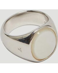 Tom Wood - Oval Mother Of Pearl Signet In Silver - Lyst