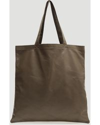 Rick Owens - Large Signature Leather Tote Bag In Grey - Lyst