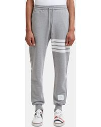 Thom Browne | Men's 4 Bar Jersey Track Pants In Grey | Lyst