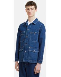 AMI - Worker Denim Jacket - Lyst