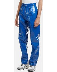 GmbH - Seam Pvc Pants Blue - Lyst