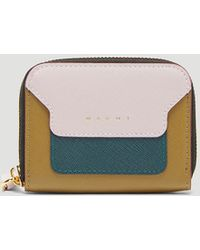 Marni - Saffiano Leather Coin Case In Pink - Lyst
