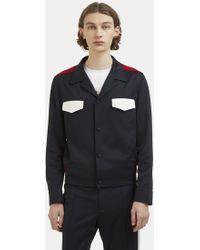 Valentino - Pocket Jacket In Navy Blue - Lyst