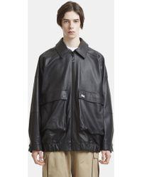 Martine Rose - Oversized Leather Jacket In Black - Lyst