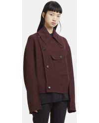 Yang Li - Pocket Jacket In Burgundy - Lyst