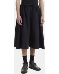 Marvielab - Wide Leg Shorts In Navy - Lyst