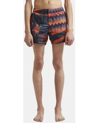 Missoni - Mixed Print Swim Shorts In Black And Red - Lyst