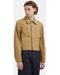 Maison Margiela   Cropped Twill Work Jacket In Khaki   Lyst