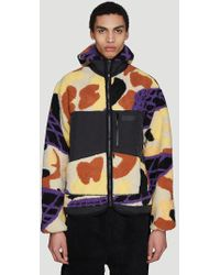 Pam - Hooded Dna Camo Sherpa Jacket In Black - Lyst