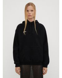 Vetements - Hooded Fitted Inside Out Jumper In Black - Lyst