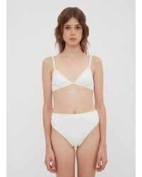 ELLISS - Cactus Triangle Bra In White - Lyst