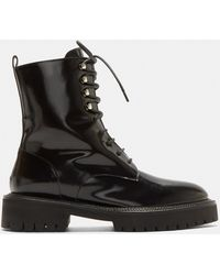 Yang Li - Classic Lace-up Derby Boots In Black - Lyst