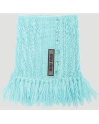 Miu Miu - Fringed Knit Collar - Lyst