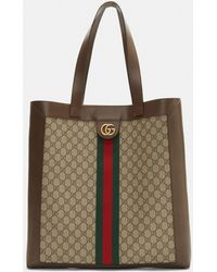 Gucci - Ophidia Gg Supreme Tote Bag In Brown - Lyst