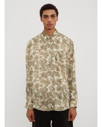 Our Legacy - Initial White Plants Print Shirt In Green - Lyst