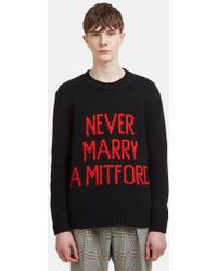 Gucci - Never Marry A Mitford Knit Sweater In Black - Lyst