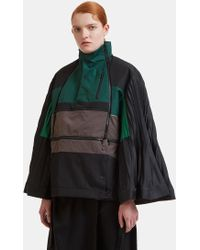 Facetasm - Pleat Sleeve Adjustable Jacket In Green - Lyst