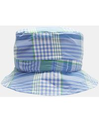 Thom Browne - Reversible Check Bucket Hat In Blue - Lyst