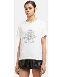 Saint Laurent - Young Romance League T-shirt In White - Lyst