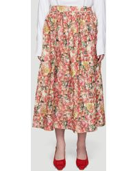 Marni - Melville Print Skirt In Pink - Lyst