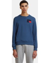 Russell Athletic - Eagle R Chenille Patch Sweater In Navy - Lyst