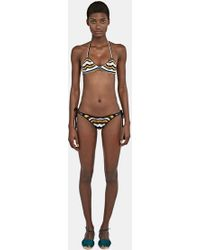All That Remains - Women's Honey Tie Sides Zigzag Bikini In Black, White And Brown - Lyst