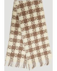 Our Legacy - Borrowed Check Scarf In Brown - Lyst
