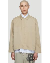 Camiel Fortgens - Stripe Simple Jacket In Beige - Lyst