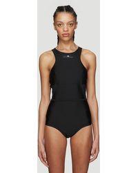 adidas By Stella McCartney - Logo Swimsuit In Black - Lyst