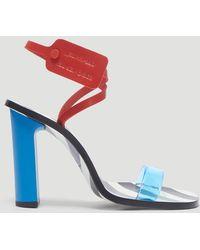 Off-White c/o Virgil Abloh - Zip Tie Capri Sandals In Blue - Lyst
