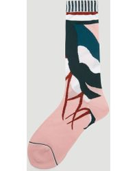 Issey Miyake - Bloom Socks In Pink - Lyst