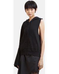 Facetasm - Hooded One Sleeve Sweater In Black - Lyst