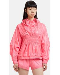 9472761d1a adidas By Stella McCartney - Essentials Pullover Running Jacket In Pink -  Lyst