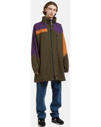 Martine Rose - Funnel Neck Patchwork Raincoat In Multi - Lyst