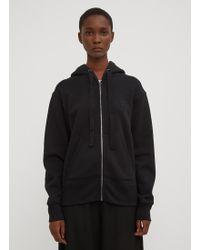 Acne Studios - Hooded Ferris Face Zip-up Sweatshirt In Black - Lyst