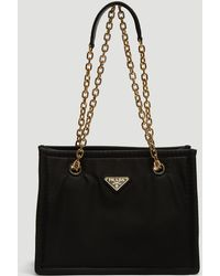 Prada Nylon Chain Bag In Black