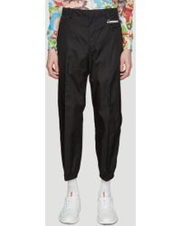 Prada - Classic Nylon Trousers In Black - Lyst