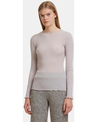 Baserange - Oki Long Sleeved Top In Grey - Lyst