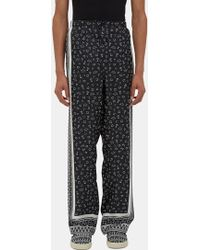 Fendi - Men's Printed Pyjama Trousers In Black And White - Lyst
