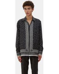 Fendi - Men's Printed Pyjama Shirt In Black And White - Lyst