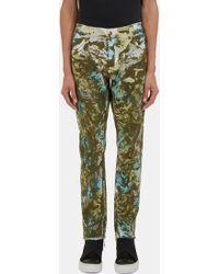 James Long - Men's Camo Print Slim Leg Jeans In Green - Lyst