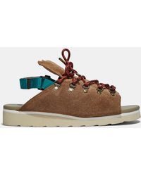 Kolor - Men's Chunky Suede Hiking Sandals In Brown - Lyst