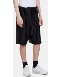 Mohsin - Men's Rude Textured Stripe Shorts In Black - Lyst