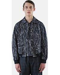 MariusPetrus - Men's Relaxed Fit Patterned Jacket In Black - Lyst