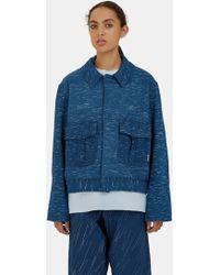 STORY mfg. - Women's Beau Canvas Rain Ikat Jacket In Indigo - Lyst