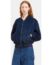 STORY mfg. - Women's Seed Reversible Bomber Jacket In Indigo - Lyst